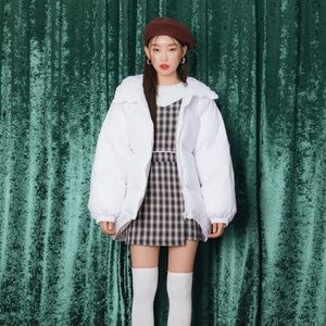 Hooded Loose Fit Puffer Jacket